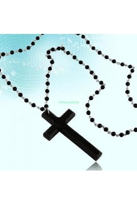 Rožančius su mediniu kryžiumi
