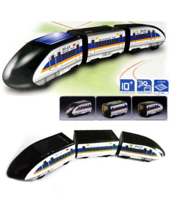 Saulės baterija varomas traukinys