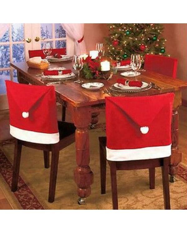 Kalėdų senelio kepurė kėdei