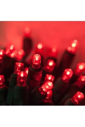8M 100 LED raudonos Kalėdinės lemputės