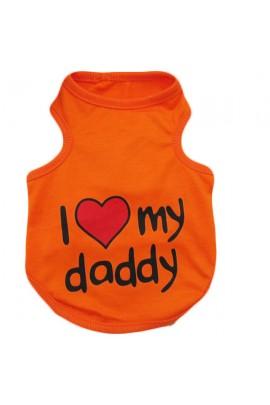 """Marškinėliai šuniukams """"I Love Daddy"""""""