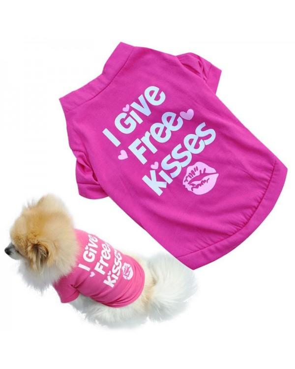 Free kisses marškinėliai šuniukui