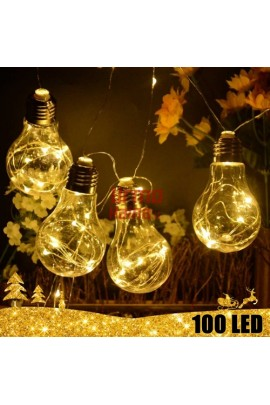 100 LED girlianda Lemputės E27