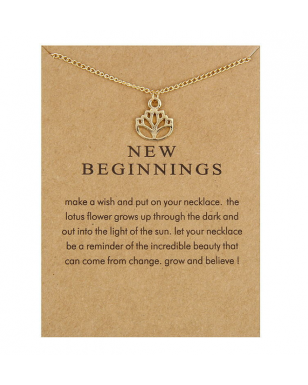 "Pakabukas su kortele ""New beginnings"""