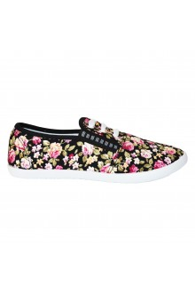 "Slip On avalynė ""Three Stripes Flowers Black"""