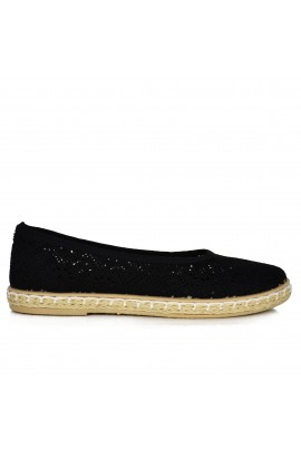 "Espadrilės ""Rounds Black"""