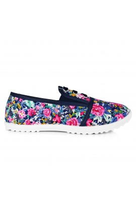 "Slip On avalynė ""Three Stripes Flowers Blue"""