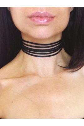 "Chocker kaklo papuošalas ""Multilayer"""