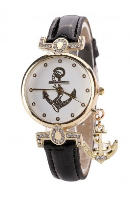 "Laikrodis ""Metal Anchor Black"""