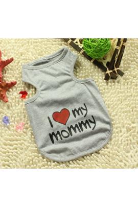 """Šuniukų marškinėliai """"I Love Mommy"""""""